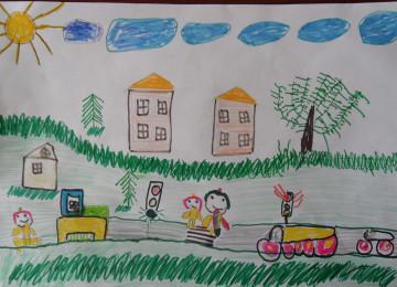 Рисунки по теме ПДД в детских садах – безопасность глазами детей