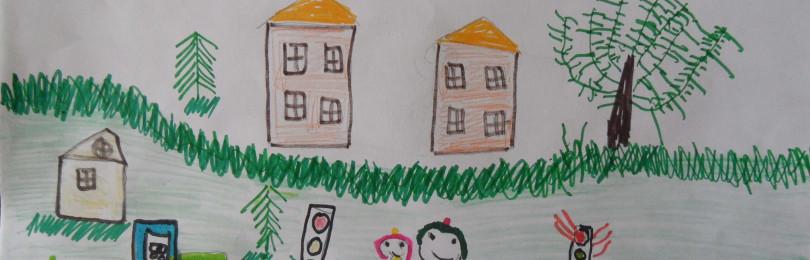 Рисунки по теме ПДД в детских садах — безопасность глазами детей