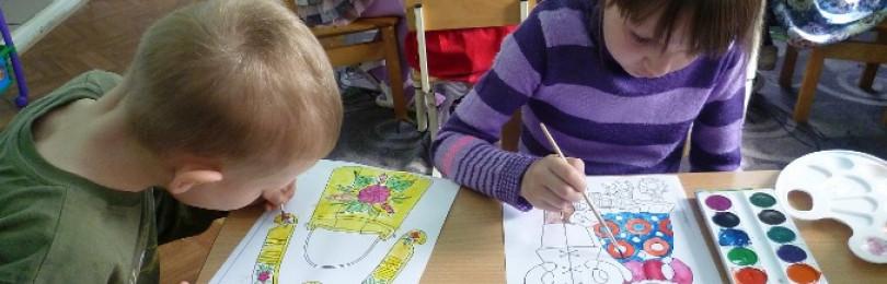 Занятия по рисованию в старших группах ДОУ