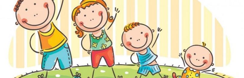 Рисунки на тему «Дети делают зарядку» в старших группах ДОУ