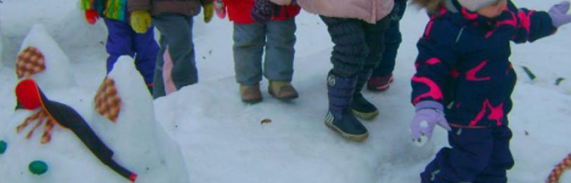 Картотека прогулок в средней группе на зиму