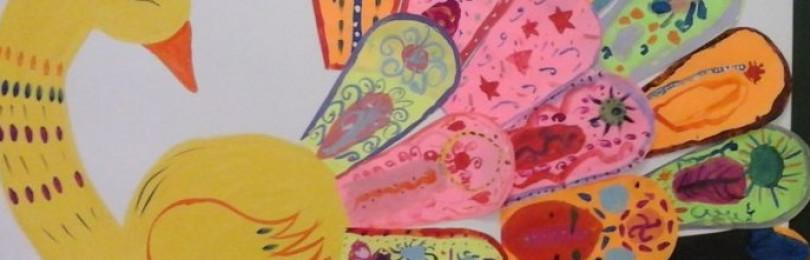 Занятие росписью в стиле «Золотая хохлома» в старших группах ДОУ