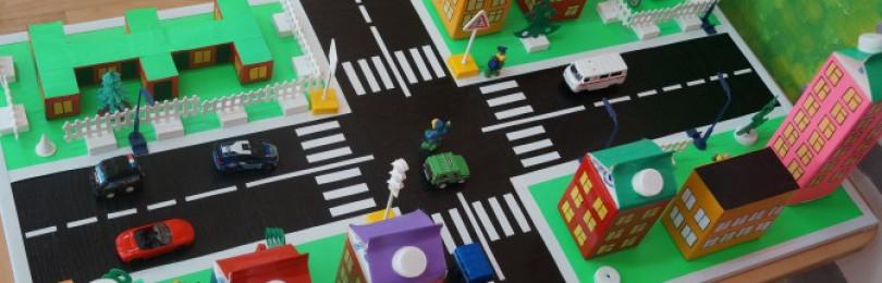 Изготовление макета по ПДД в детском саду своими руками