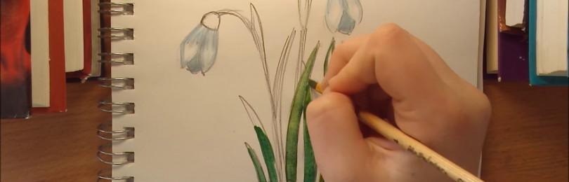 Занятие по рисованию на тему «Подснежники» в детском саду