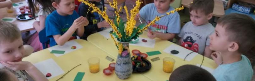 Рисование на тему «Мимоза» в средних группах детского сада