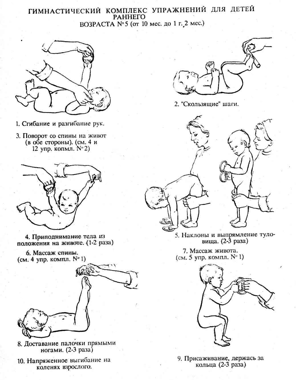 Комплекс упражнений для 10 месяцев - 1,2 года