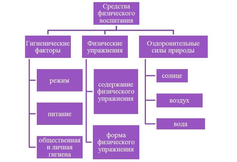 Схема средств физического воспитания