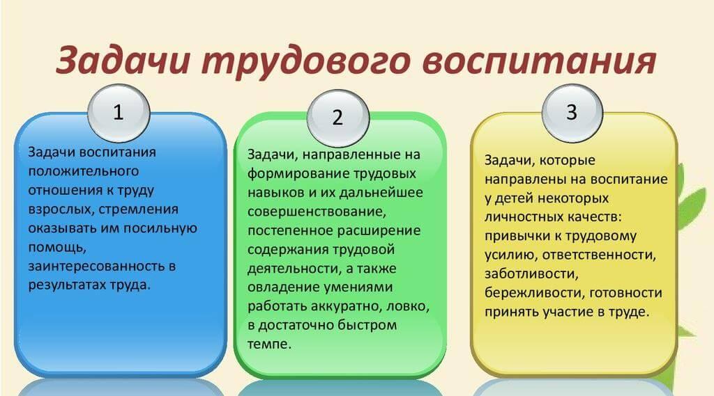 Задачи трудового воспитания