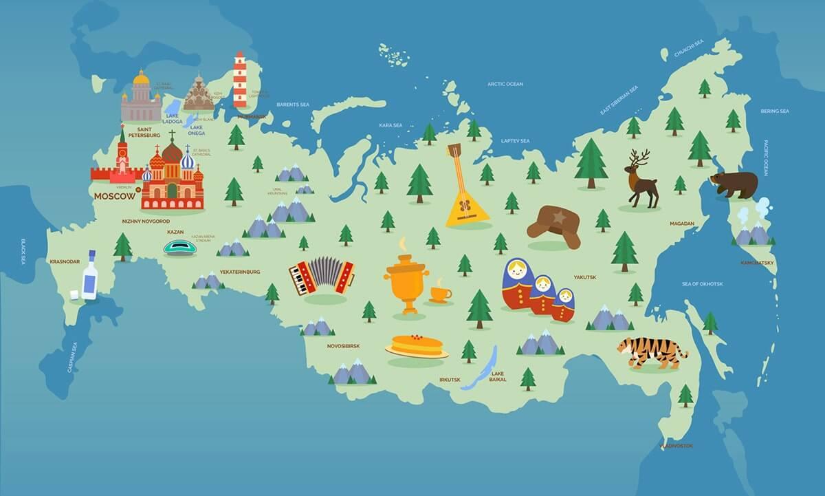 Карта россии для детей, патриотическое воспитание в ДОУ (Детском саду)