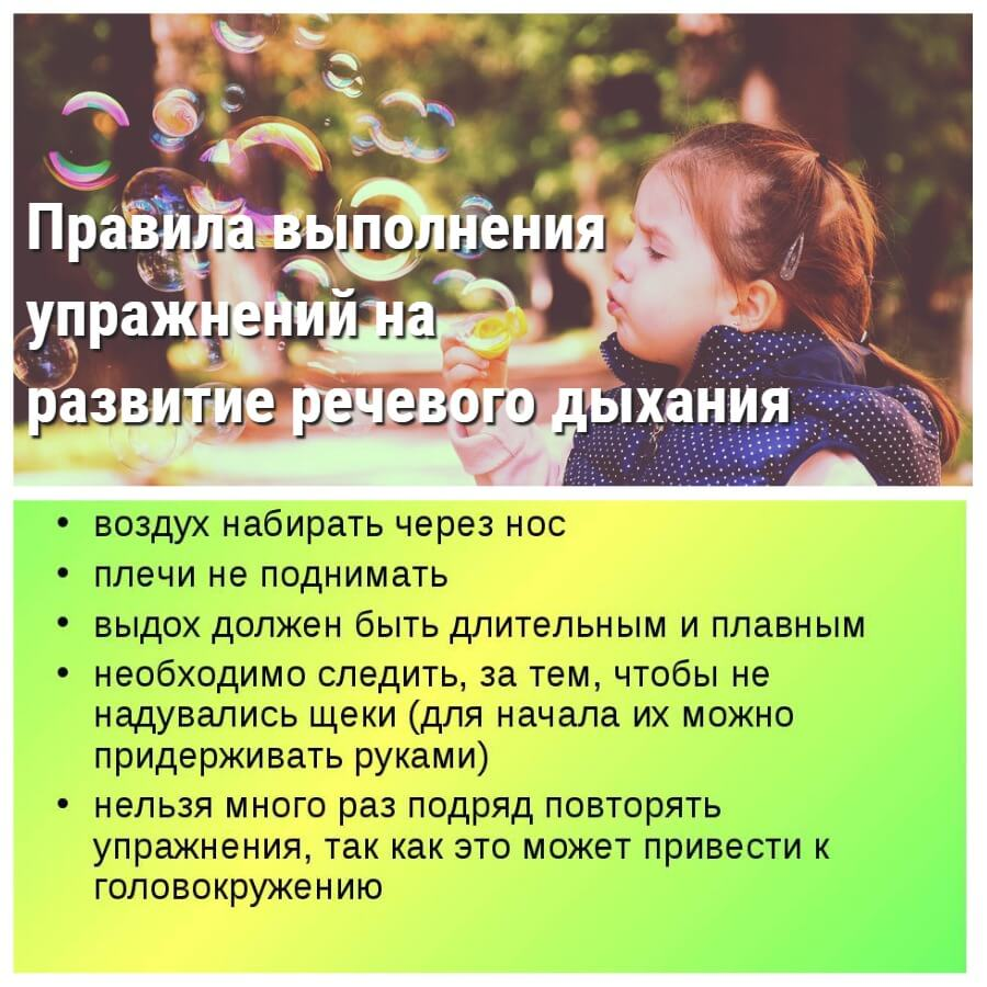 Правила для дыхательных упражнений