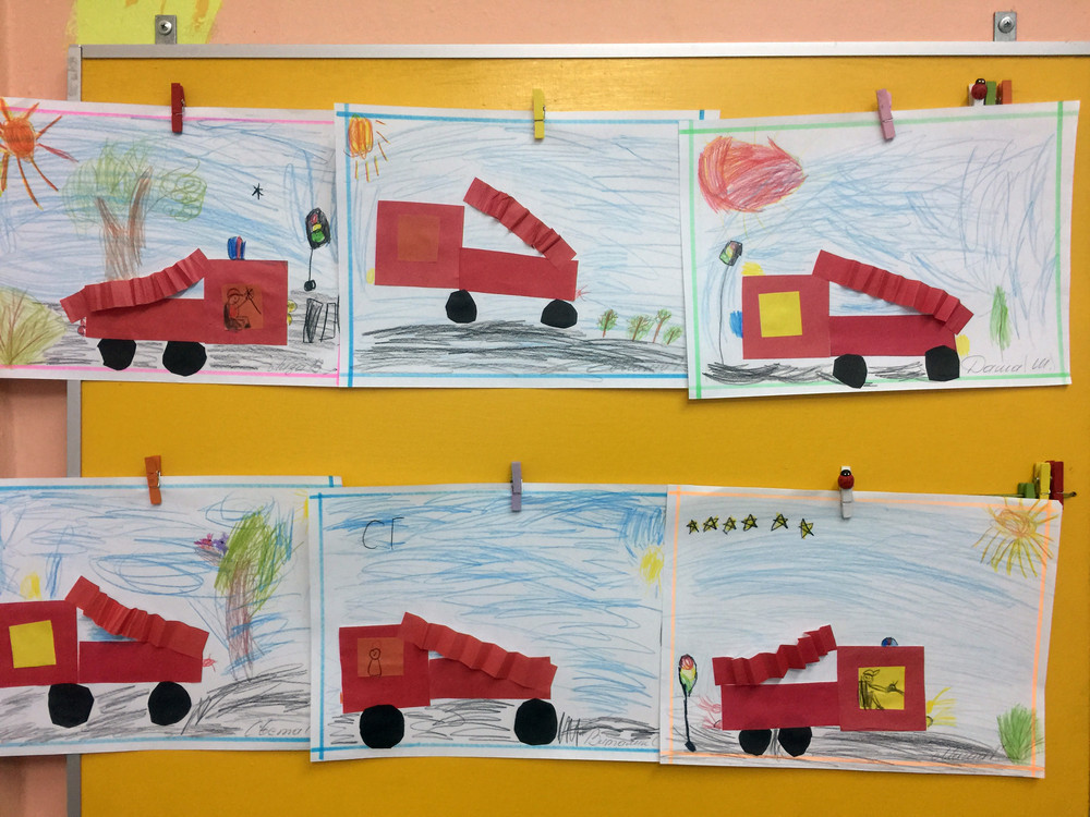 Рисование пожарной машины в подготовительной группе просто перепутали