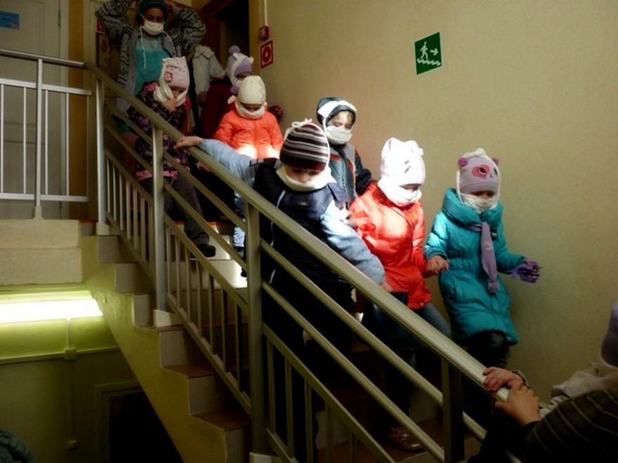 Обозначения выхода и эвакуация детей