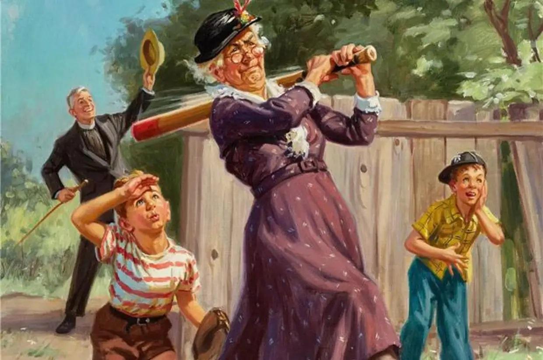 """Картина - """"Бабушка с внуками"""""""